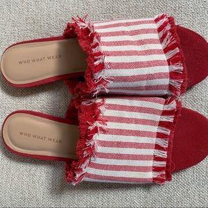 Red & white slides
